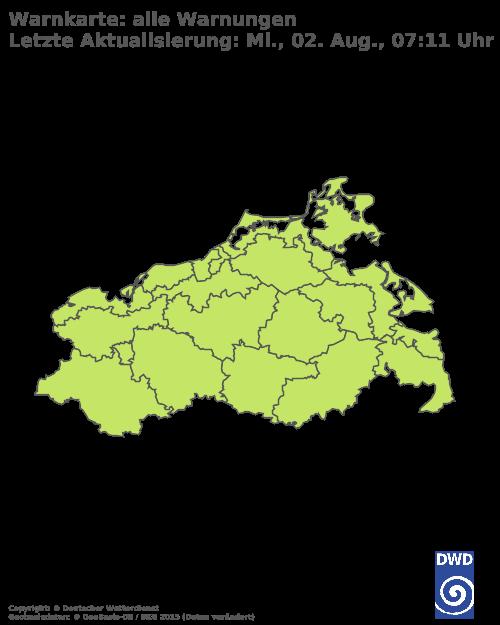 Aktuelle Wetterwarnungen für Rostock - Küste